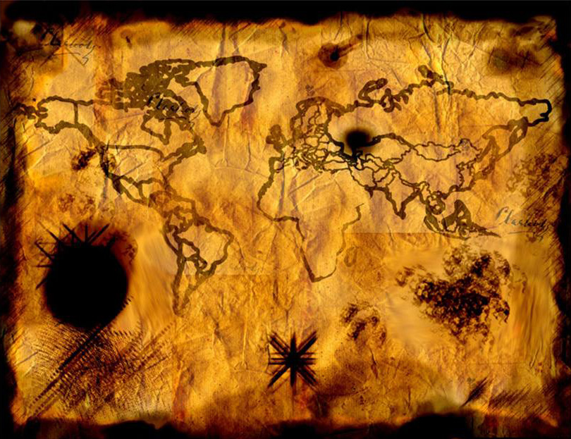 2011 Ancient Pirate Treasure Map