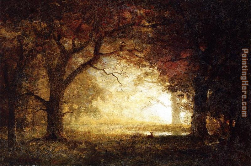 Albert Bierstadt Forest Sunrise