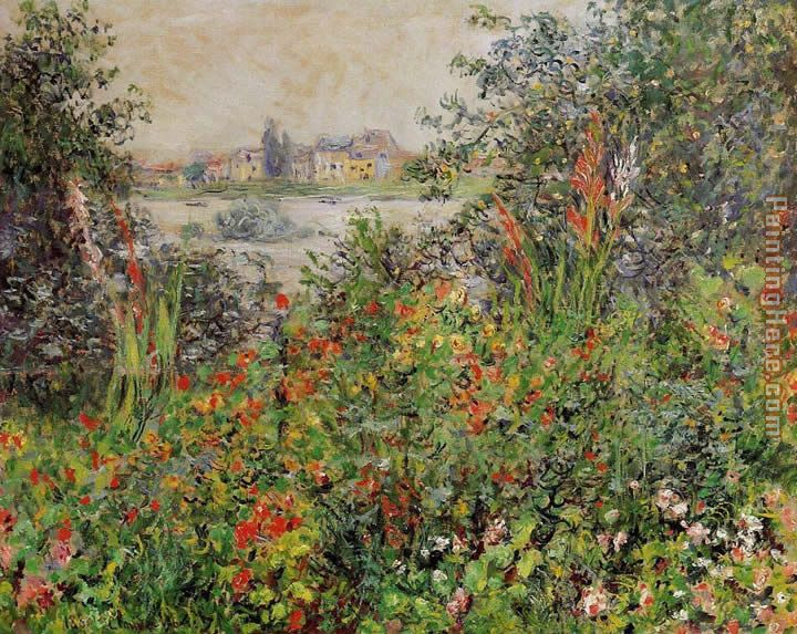 Claude Monet Flowers at Vetheuil