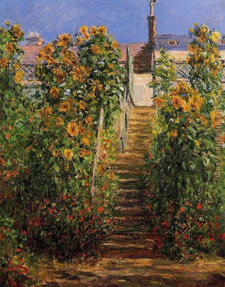 Claude Monet The Steps at Vetheuil