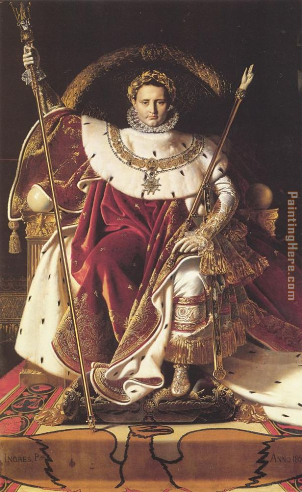 Jean Auguste Dominique Ingres Napoleon I on His Imperial Throne
