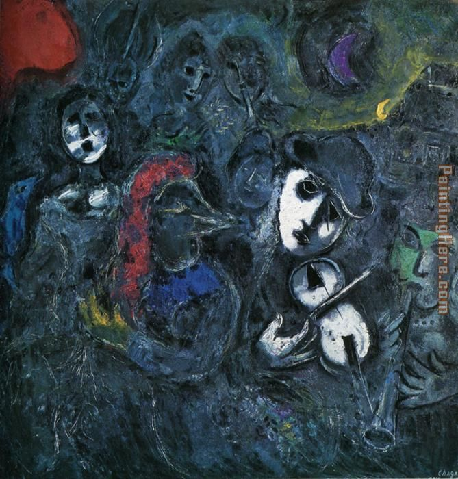 Marc Chagall Clowns at Night