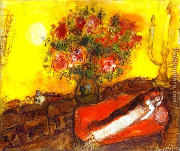 Marc Chagall Le Ciel embrase