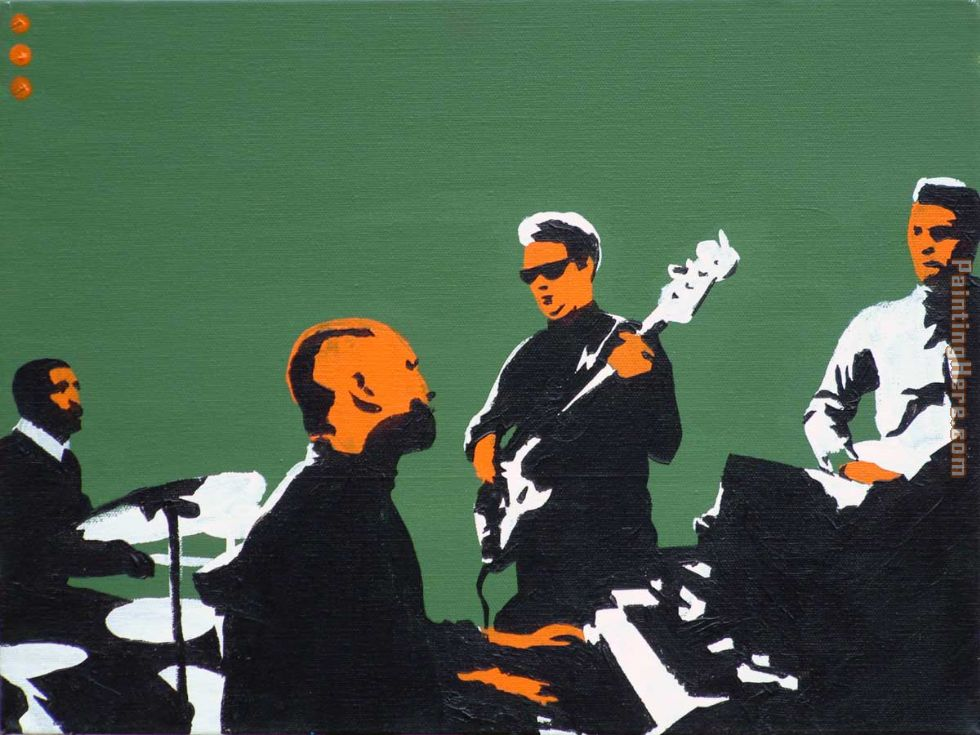 Pop art booker t & the mgs on green