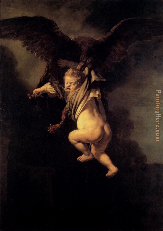 Rembrandt The Abduction Of Ganymede