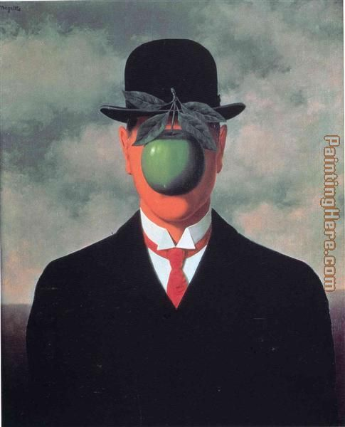 Rene Magritte the great war 1964