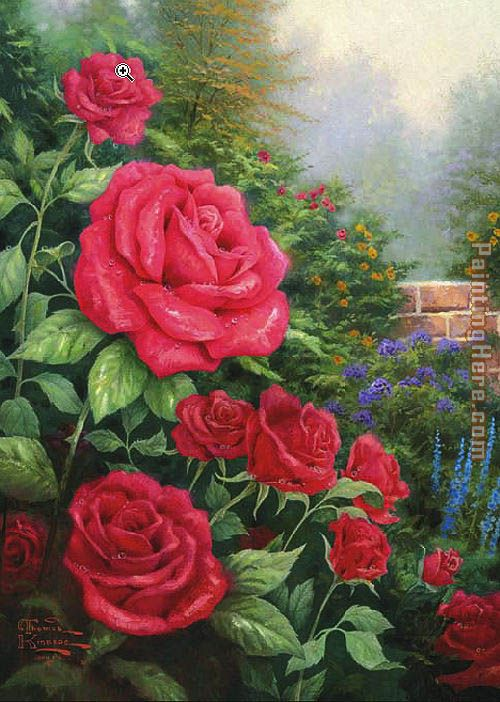 Thomas Kinkade A Perfect Red Rose