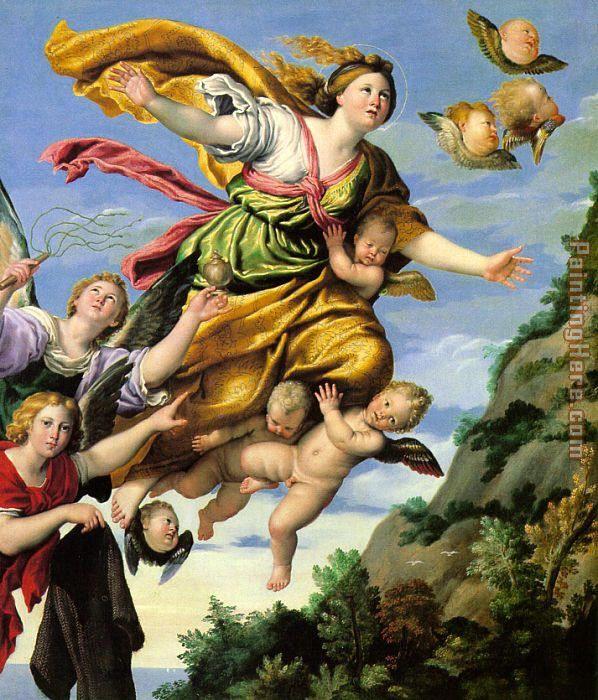 Unknown Artist The Assumption of Mary Magdalene into Heaven Domenichino