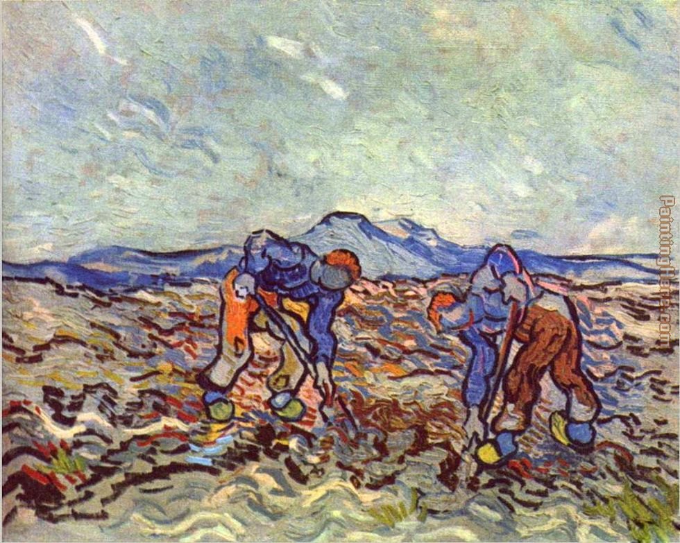 Vincent van Gogh Farmers at work