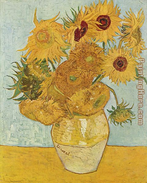 Vincent van Gogh Vase with Twelve Sunflowers