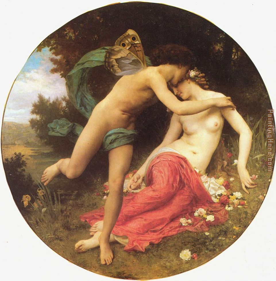 William Bouguereau Flora and Zephyr