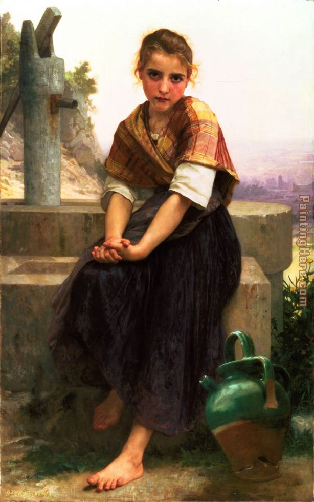 William Bouguereau The Broken Pitcher
