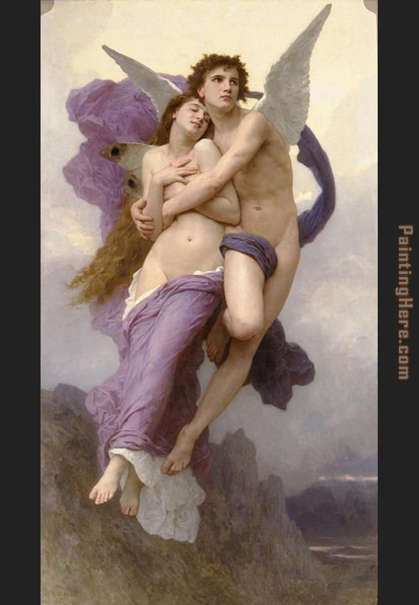 William Bouguereau The Rapture of Psyche