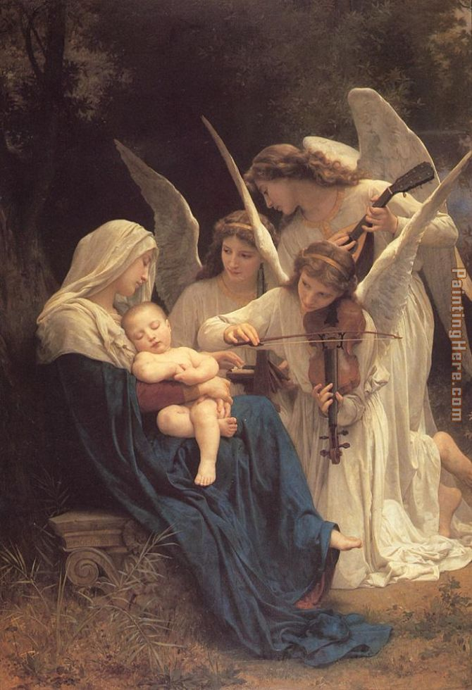 William Bouguereau The Virgin with Angels