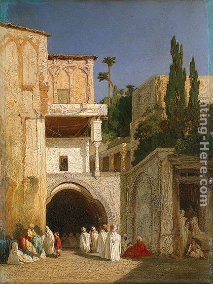 Alexandre-Gabriel Decamps Before a Mosque (Cairo)
