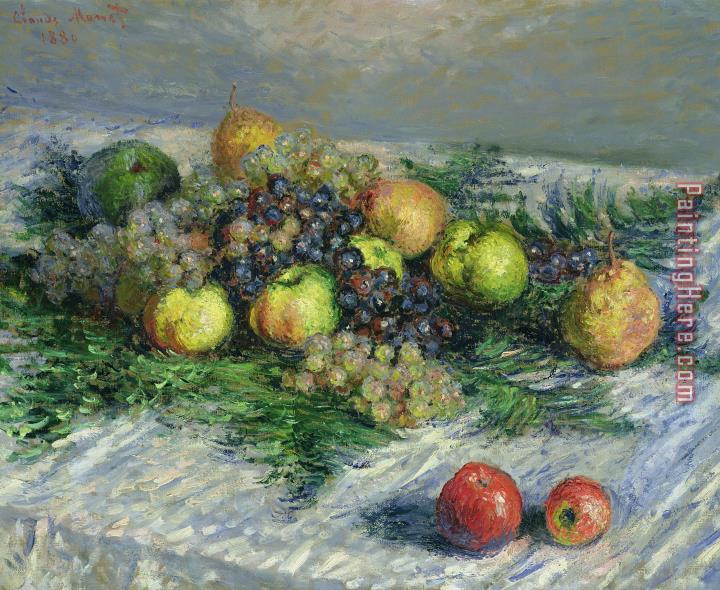 Claude Monet Still Life With Pears And Grapes