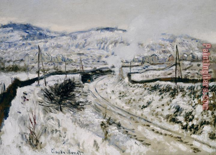 Claude Monet Train In The Snow At Argenteuil