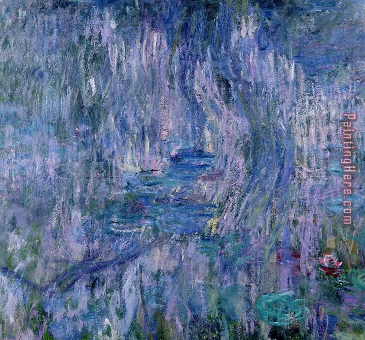 Claude Monet Waterlilies And Reflections Of A Willow Tree