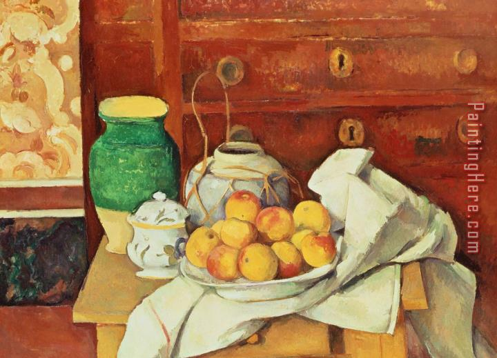 Paul Cezanne Still Life With A Chest Of Drawers
