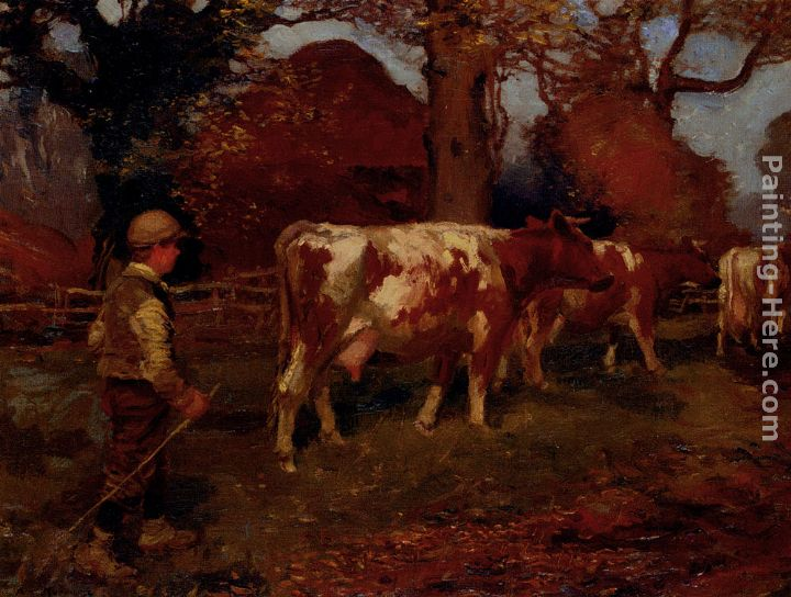 Sir Alfred James Munnings On The Way Home, The Cow Herd