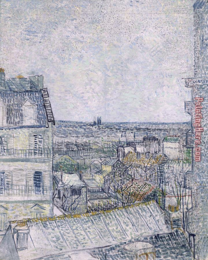 Vincent van Gogh View from Vincent's room in the Rue Lepic