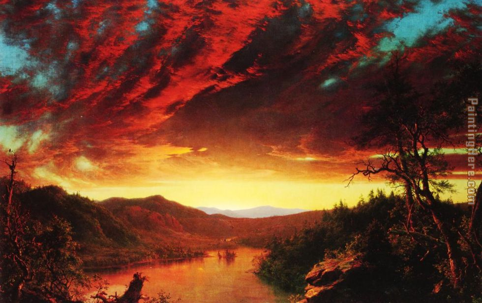 Frederic Edwin Church Twilight in the Wilderness